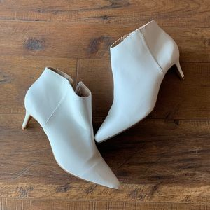 White pump boots